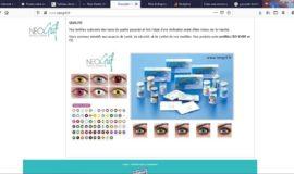 Site vitrine crée en 2012: distributeur B2B en produits cosmétiques